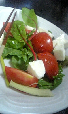 夕食サラダ